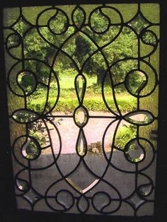 Lovely insert for a standard door.  Repeat pattern in the shapes found in the yard and garden.