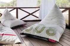pouf chaise longue / Design-lepotuoli, MYYTY // Tipico / Mitäsaisiolla.fi
