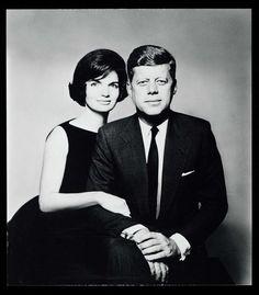 Jackie and John Kennedy by Richard Avedon