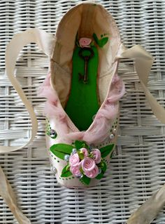 Sleeping Beauty Handcrafted Pointe Shoe by PointesOfDistinction, $60.00