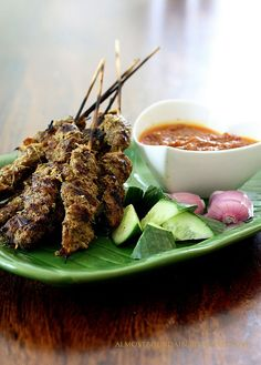 ... /Indonesian on Pinterest | Chicken satay, Beef satay and Peanut sauce