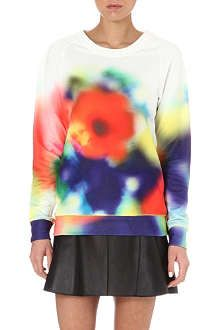 PAUL BY PAUL SMITH Blurred floral-print sweatshirt