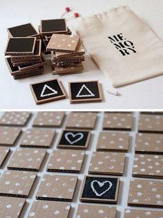 jogo da memória de papelão