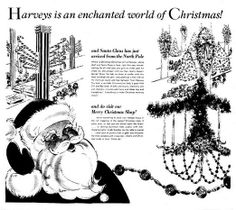 Harveys department store placed an ad in the Nov. 16, 1963 issue of The Tennessean to lets readers know that their store is an enchanted world of Christmas. They also want to let the kids know that Santa Claus has just arrived at the store from the North Pole.
