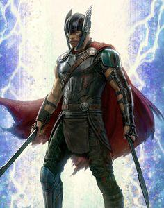 Thor concept art from Thor: Ragnarok