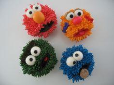 Sesame Street Cupcakes by candywarhola, via Flickr  Use Tip 233