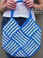 Crochet tejida Bolsa - la armadura del totalizador del bolso de ganchillo por Donna Wolfe de Naztazia