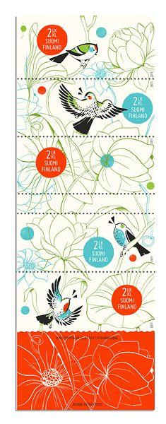 Amazing postage stamp design by illustrator Pietari Posti (shared on my blog today).