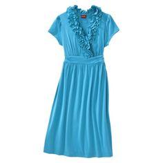 Merona® Womens Ruffle Neck Dress - Assorted Colors.