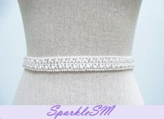Pearl Bridal Sash - Juliana $150.00 USD