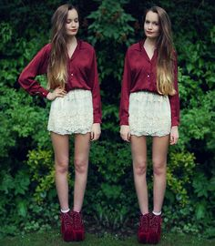 Minus the shoes...Lace and Red (by Imogen De Souza) http://lookbook.nu/look/3572339-Lace-and-Red