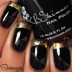 Gold foil French tips!