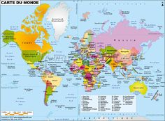 Explore the earth with the Map of the World by MapsofWorld. This World Political Map is perfect piece to meet your travel, geography reference and educational needs. Free Printable World Map, Printable Maps, World Globe Map, World Globes, World Atlas Map, Flat World Map, World Geography Map, Geography Quiz, World Political Map