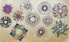 Create your own cool designs and awesome pictures with the help of this fun and classic Spirograph drawing accessory.