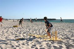 Park or Beach game : Cricket. Use a wheely bin for stumps (large target makes it easier to bowl someone out). NEED : Wheely bin, cricket bat, tennis ball, second stump, dollar store prizes. Australia Day, Western Australia, Home Remedies For Tanning, Cottesloe Beach, Beach Vacation Packing List, Beach Games, Parasailing, Online Travel, Beach Hotels