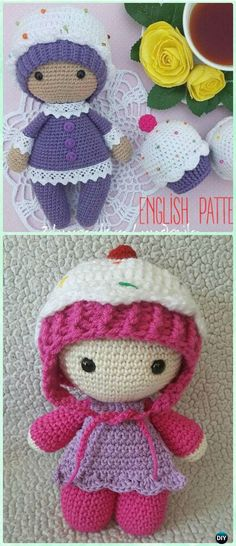 Amigurumi Crochet Cupcake Doll Free Pattern - Crochet Doll Toys Free Patterns