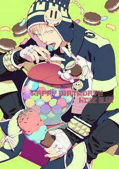 Candy King - Noiz is man after my own heart 『 DRAMAtical Murder 』 Manga Anime, Boys Anime, Hot Anime Guys, Manga Boy, Anime Art, Character Sketches, Cute Anime Character, Overwatch, Noiz Dmmd