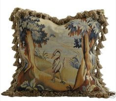 Swan Aubusson Tapestry Accent Pillow