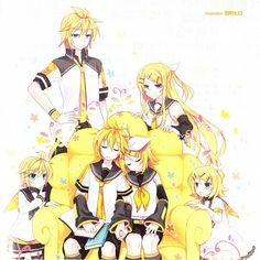 Rin and Len through the ages.