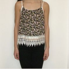 Floral Tank Top great condition, worn few times. i accept ALL reasonable offers! :) Foreign Exchange Tops Tank Tops