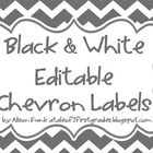 Black and White Chevron Label Set includes: NOW EDITABLE IN POWERPOINT 2 X 4 labels for student book boxes These labels can be used to number items in the classroom such as materials or st Label Templates, Templates Printable Free, Printable Labels, Labels Free, Free Printables, Chevron Labels, Chevron Printable, Classroom Labels, Classroom Organization