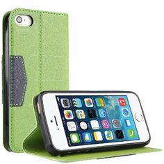 Bingsale Schutzhülle Ledertasche Iphone 5S 5 Hülle Tasche (Iphone 5S, Ledertasche grün): Amazon.de: Küche & Haushalt