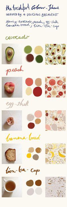 The Breakfast Color Scheme by Anne Grön, via Behance