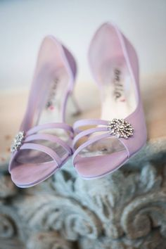 Pretty in Pink wedding shoes - we love! Pink Wedding Shoes, Pretty In Pink, Couture, Bridal, Sandals, Fashion, Moda, Sewing, Bride