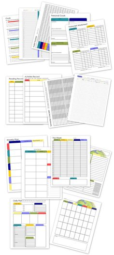 A school planner designed just for high schoolers.  Printable, editable, color and b&w, just 99 cents.