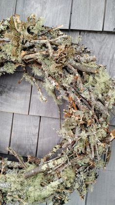 Large Moss And Twig Wreath -Made in Maine – Advent Wreath İdeas. Moss Wreath, Twig Wreath, Advent Wreath, Easter Wreaths, Holiday Wreaths, Corona Floral, Christmas Crafts, Christmas Decorations, Fru Fru