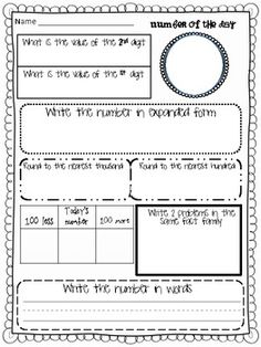 Number Of The Day Worksheet: Number Detectives   number of the day   Learning   Pinterest   The    ,