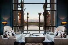 Mauritian hotel group Beachcomber, has opened its newest property in the stunning city of Marrakech. The Royal Palm Marrakech is the first hotel belonging to the group to be set outside the Indian Ocean region. Architectural Digest, Royal Palm Marrakech, Marrakech Morocco, Villas, Mamounia Marrakech, Palms Hotel, Luxury Restaurant, Leading Hotels, Resort Villa