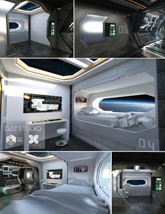 Spaceship Crew Room | 3D Models and 3D Software by Daz 3D