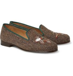 Stubbs & WoottonEmbroidered Tweed Slippers|MR PORTER. $450.