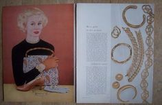 1955 Vintage Jewelry Selections by Trifari Monet Coro Castlecliff Bergere Ad | eBay