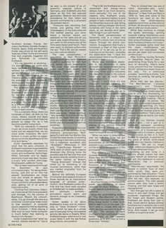 This Kraftwerk piece comes from The Face in March, Ralf Hutter is interviewed by Steve Taylor with design and layout by Neville Brody. Neville Brody, Editorial Layout, Postmodernism, Feel Good, Interview, March, Magazine Layouts, Fashion Art, 1980s