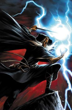 Dragonlance's Raistlin. Art by Jeremy Roberts.