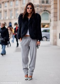 who says sweatpants can't be glam