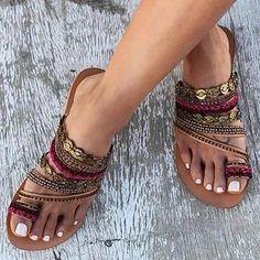 0c7b28149d0a39 Women Shoes Comfortable Rome Beach Flat Sandals – judedress Boho Sandals