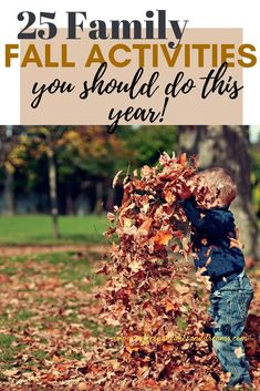 Fun Family Fall Activities You can do this year #free #outdoor #bucketlist