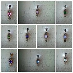10 Add your own charm belly rings by BellybyMollie on Etsy