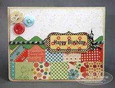 I'm in love with the patchwork on this card!!