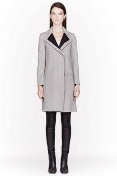 Helmut Lang Grey Knit Oversize Chance Coat - SSENSE   Ador