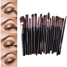 20Pcs Makeup Brushes Set Powder Eyeshadow Eyeliner Lip