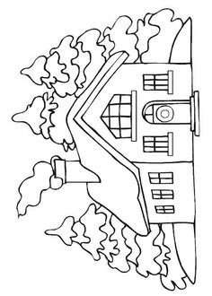 Landscape Coloring Pages - Part 7 Santa Coloring Pages, Christmas Coloring Pages, Animal Coloring Pages, Free Printable Coloring Pages, House Quilt Patterns, Christmas Quilt Patterns, Wood Burning Stencils, Art Activities For Toddlers, Drawing Sheet