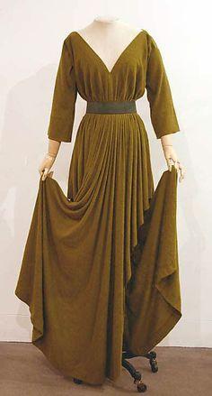 Dress Madame Grès (Alix Barton)  (French, Paris 1903–1993 Var region)  Date: 1975–79 Culture: French Medium: a) wool; b) leather.