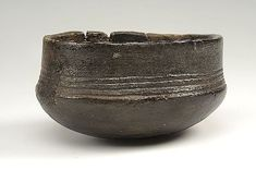 Pottery bowl found at Burka, possibly imported from Finland. In the Historiska Museet, Stockholm.