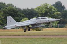 Northrop (CASA built) SF-5M AE.9-18 / 23-26 Spanish Air Force arriving at Fairford UK. RIAT 2015