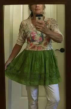 Upcycled Recycled Repurposed Boho Tunic/Top/Dress SM by IsleaublueDesigns on Etsy