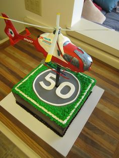 Helicopter Landing Pad Cupcake Cake